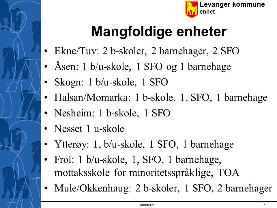 Mangfoldige enheter Ekne/Tuv: 2 b-skoler, 2 barnehager, 2 SFO