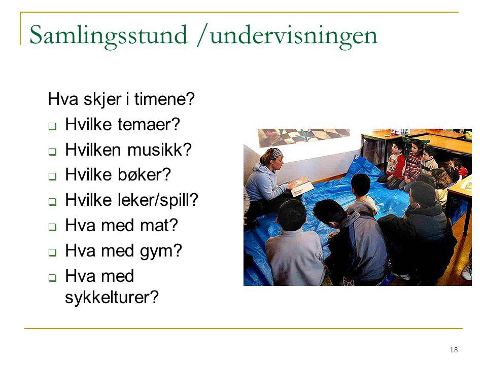 Samlingsstund /undervisningen