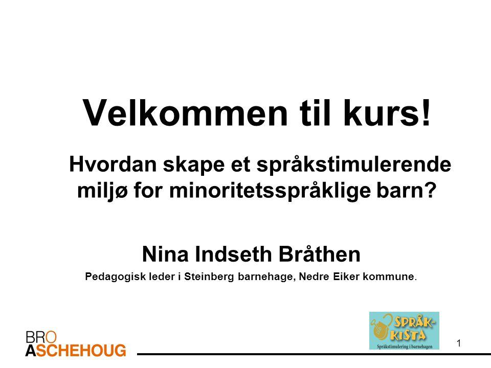 Pedagogisk leder i Steinberg barnehage, Nedre Eiker kommune.