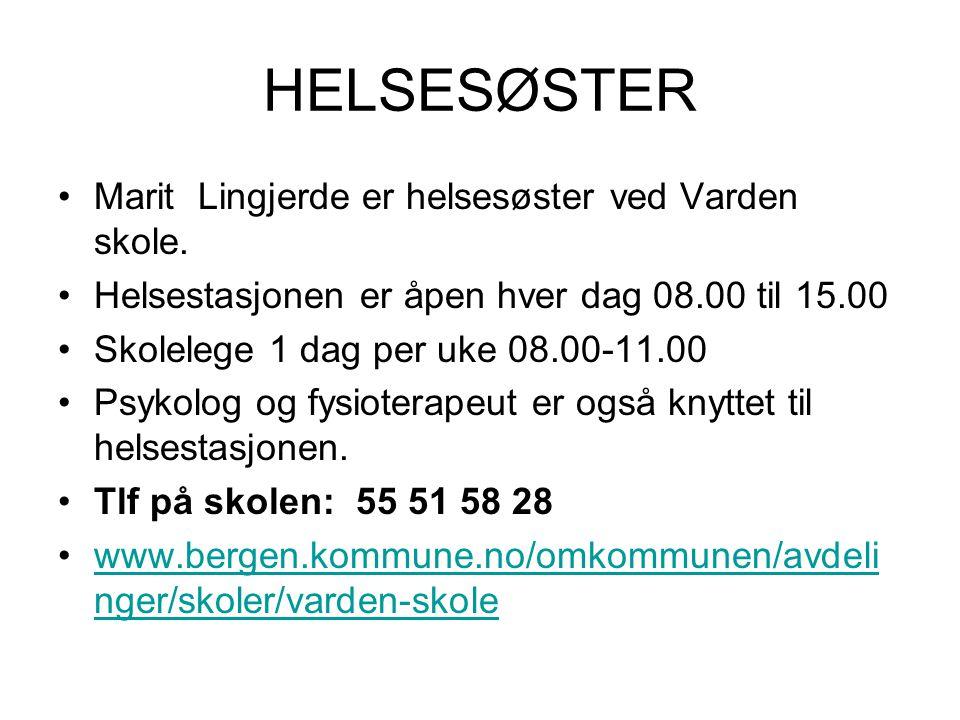 HELSESØSTER Marit Lingjerde er helsesøster ved Varden skole.