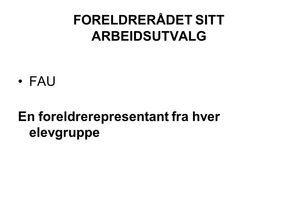 FORELDRERÅDET SITT ARBEIDSUTVALG
