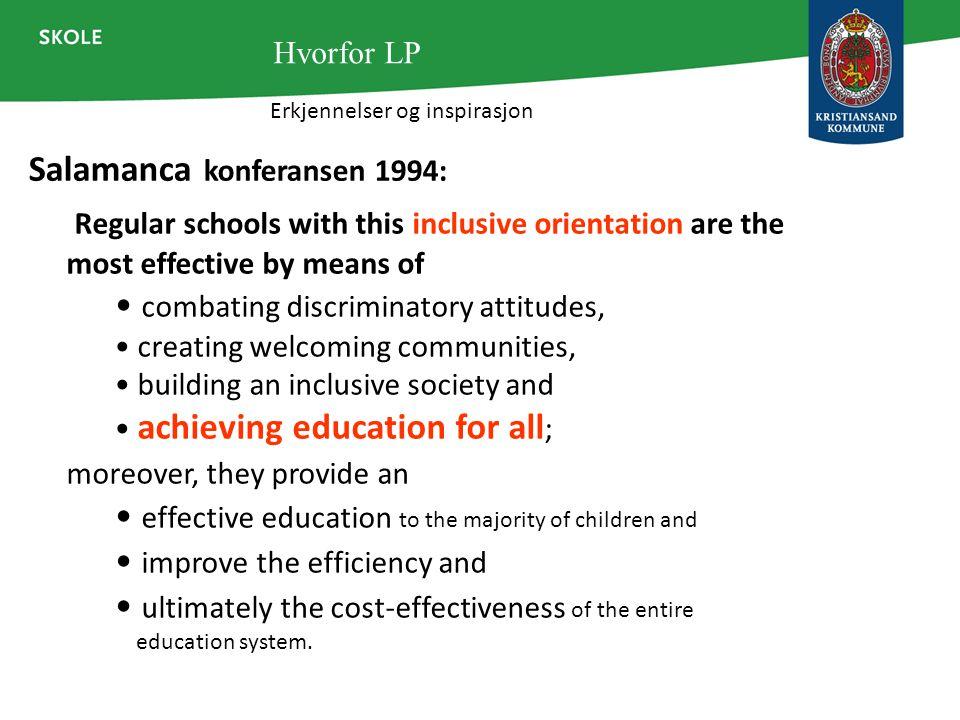 Salamanca konferansen 1994: