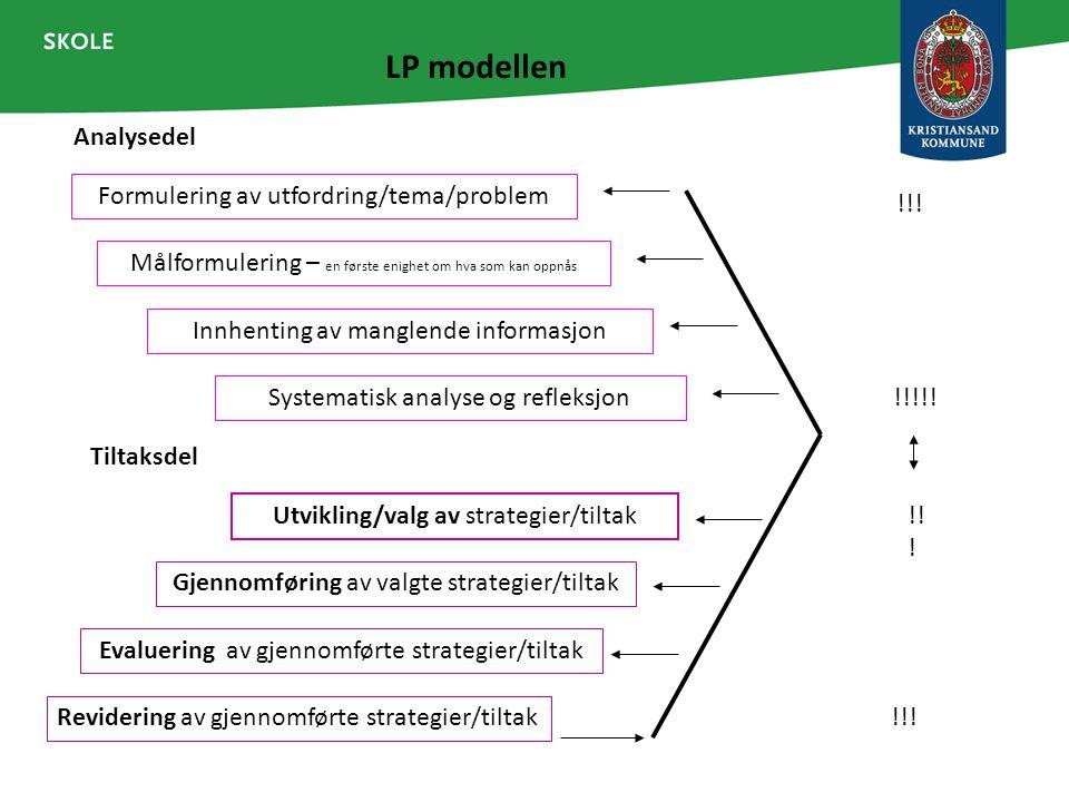 LP modellen Analysedel Formulering av utfordring/tema/problem !!!