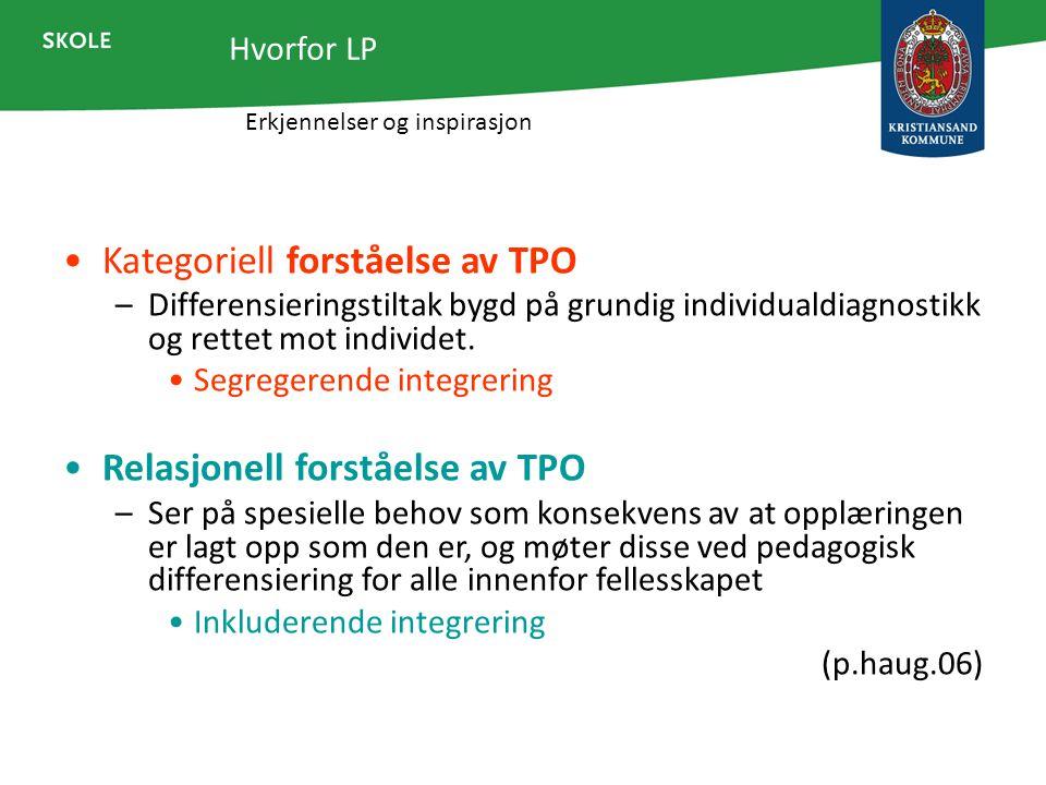 Kategoriell forståelse av TPO
