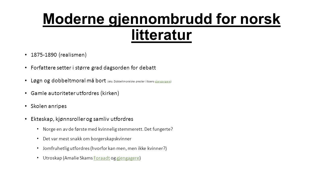 Moderne gjennombrudd for norsk litteratur