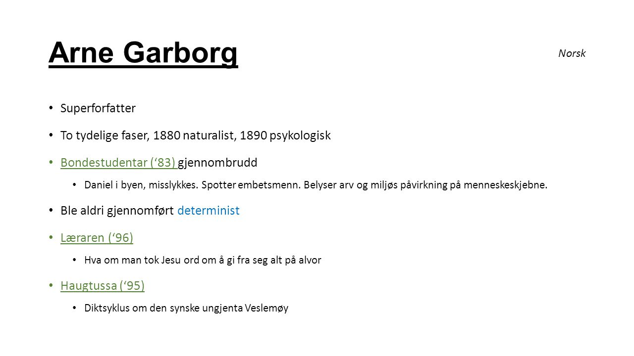 Arne Garborg Superforfatter