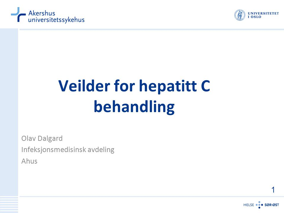 Veilder for hepatitt C behandling