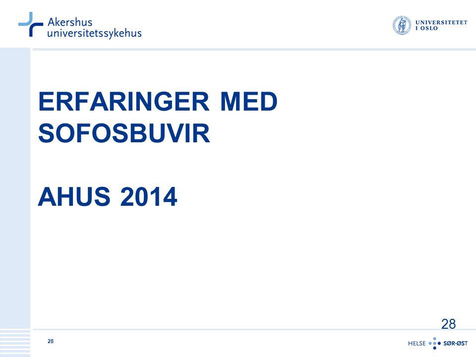 Erfaringer med sofosbuvir AHUS 2014