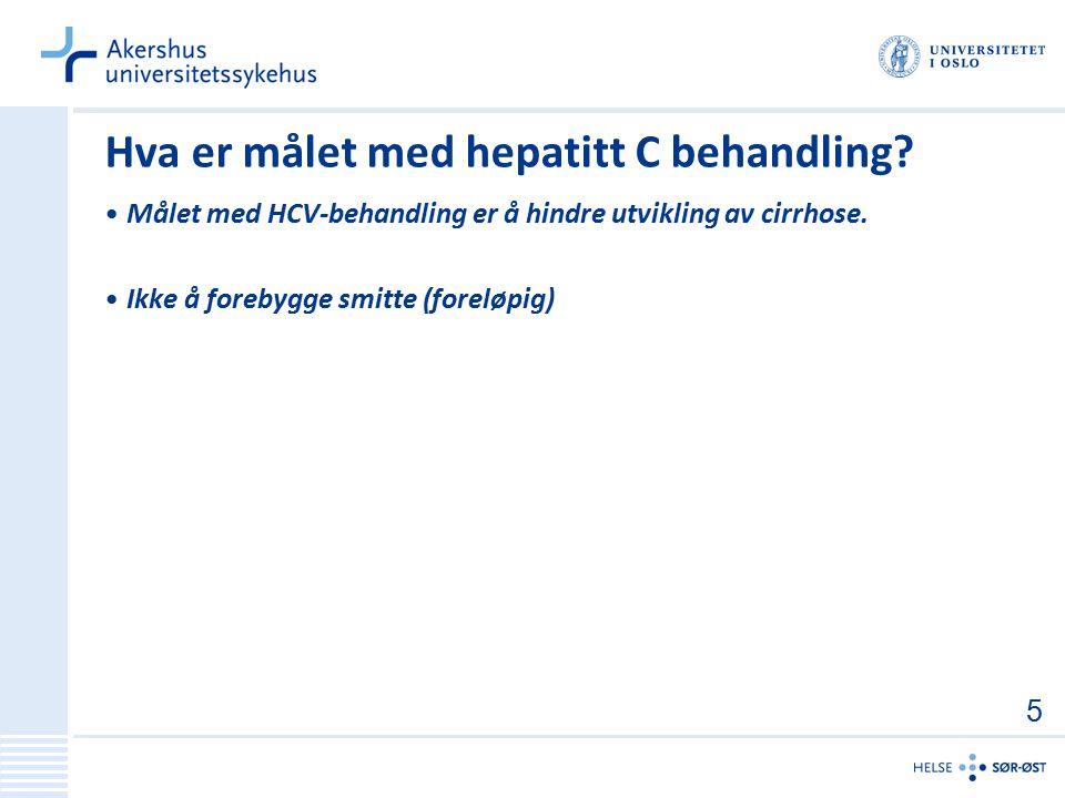 Hva er målet med hepatitt C behandling