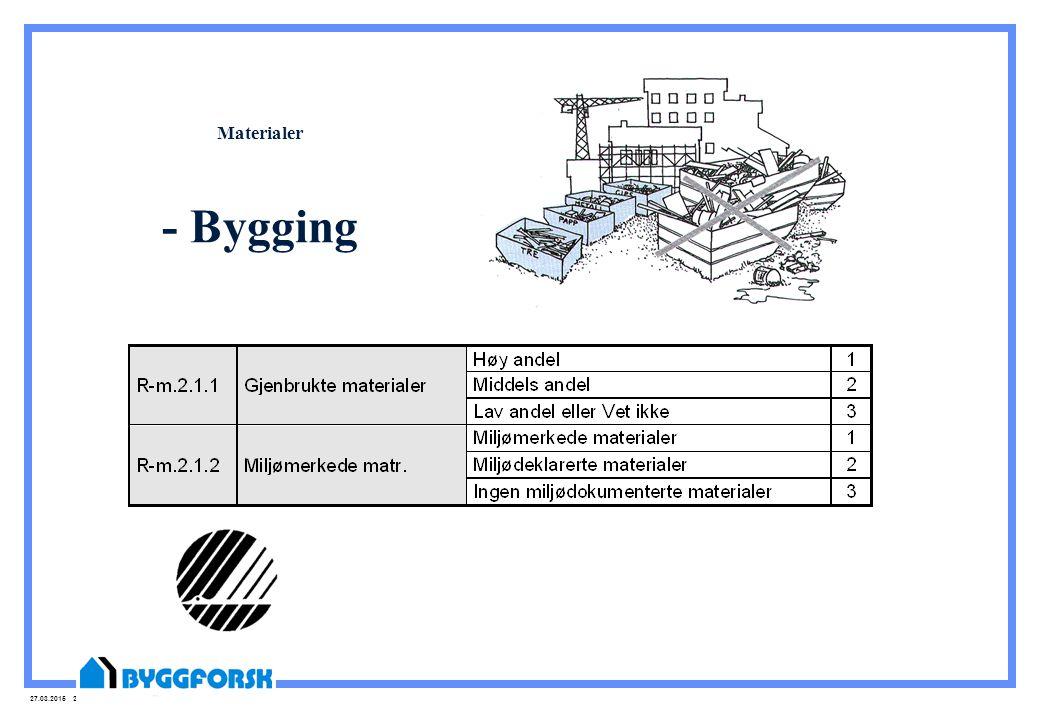 Materialer - Bygging