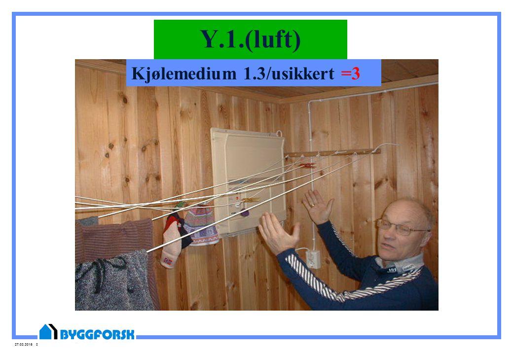 Y.1.(luft) Kjølemedium 1.3/usikkert =3