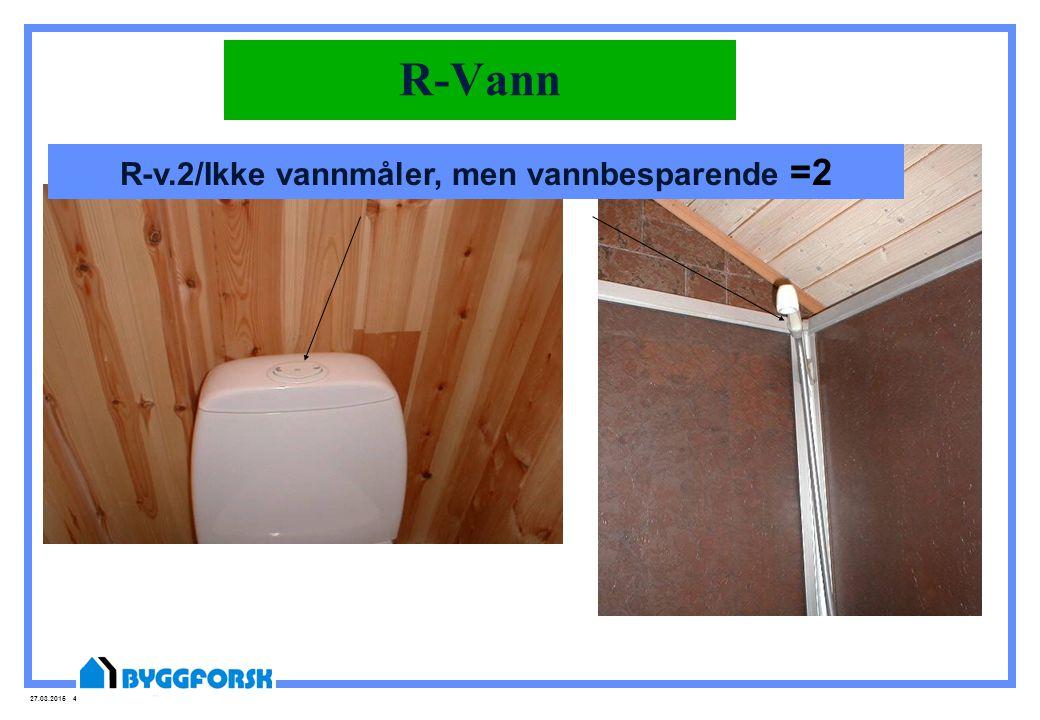 R-v.2/Ikke vannmåler, men vannbesparende =2