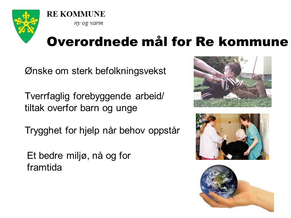 Overordnede mål for Re kommune