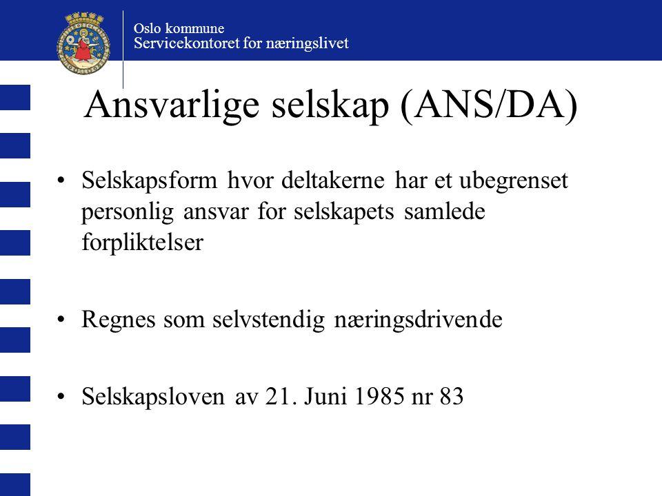 Ansvarlige selskap (ANS/DA)