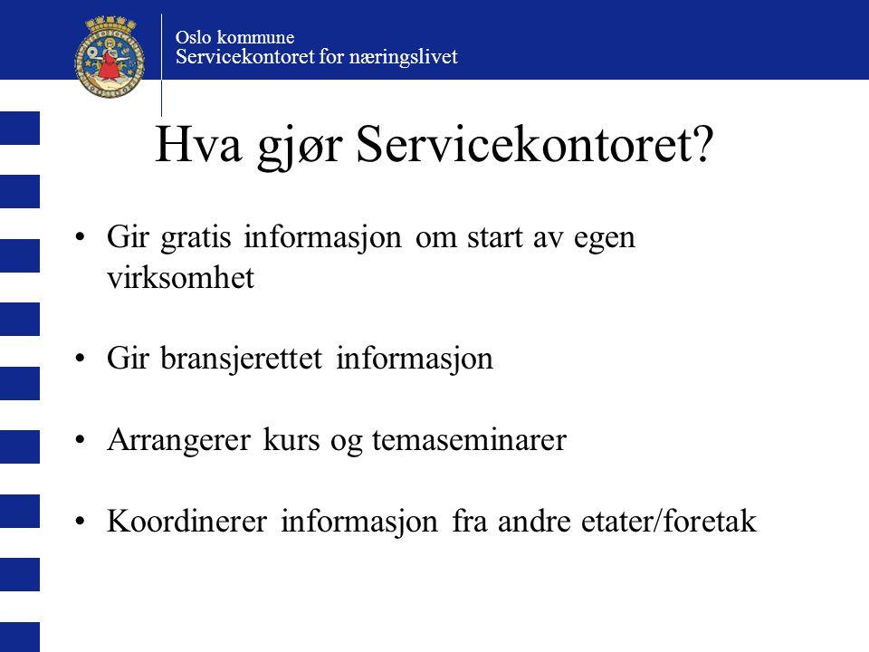 Hva gjør Servicekontoret