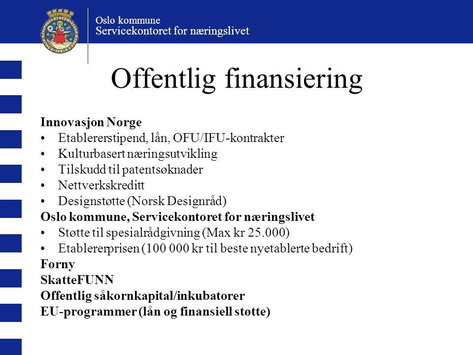Offentlig finansiering