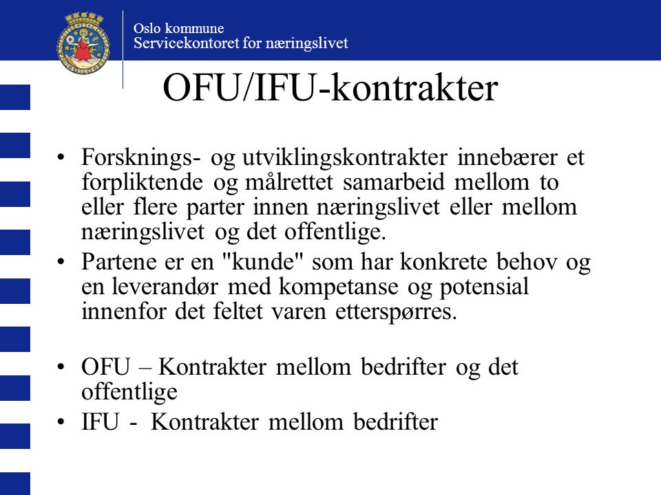 OFU/IFU-kontrakter