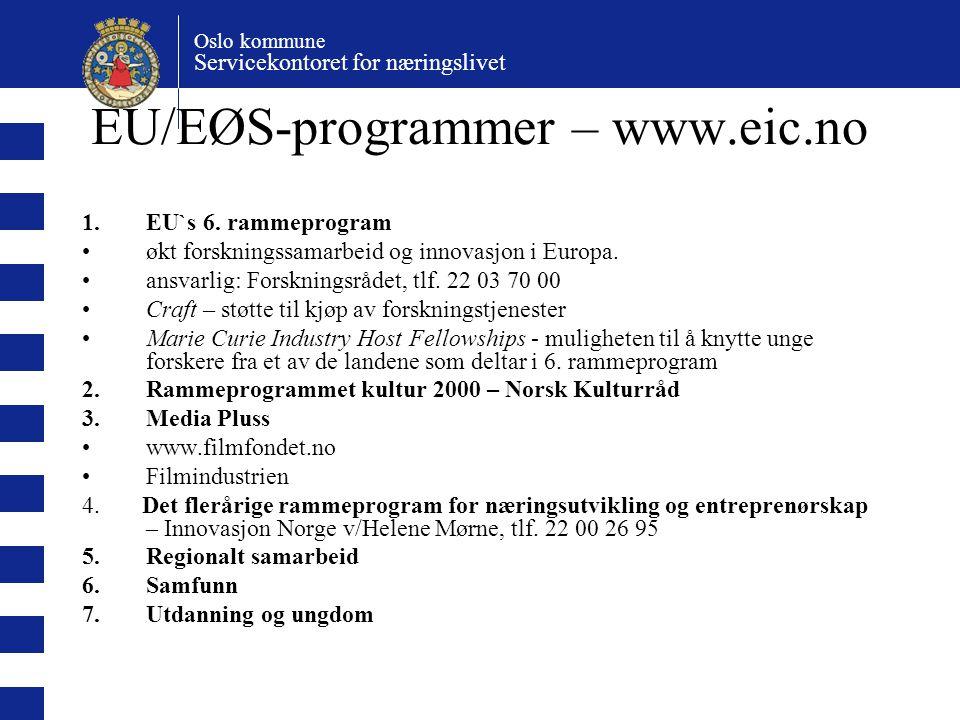 EU/EØS-programmer – www.eic.no