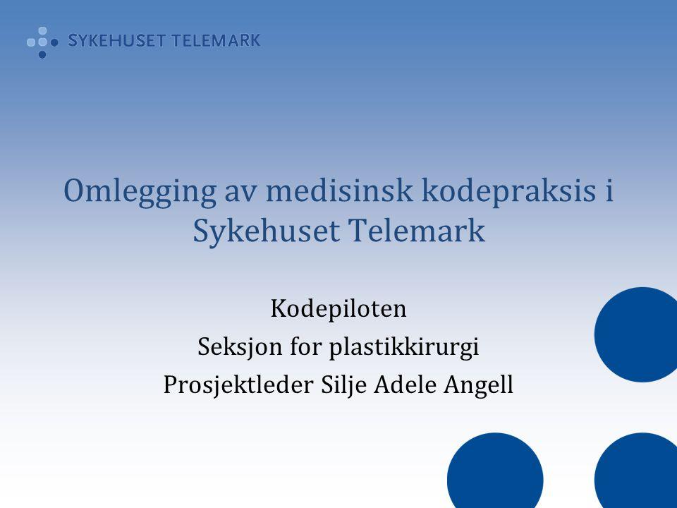 Omlegging av medisinsk kodepraksis i Sykehuset Telemark