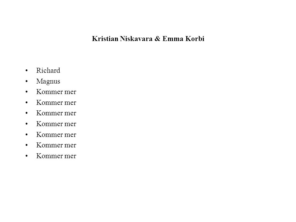 Kristian Niskavara & Emma Korbi