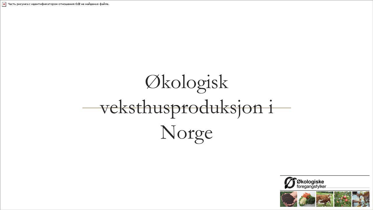Økologisk veksthusproduksjon i Norge