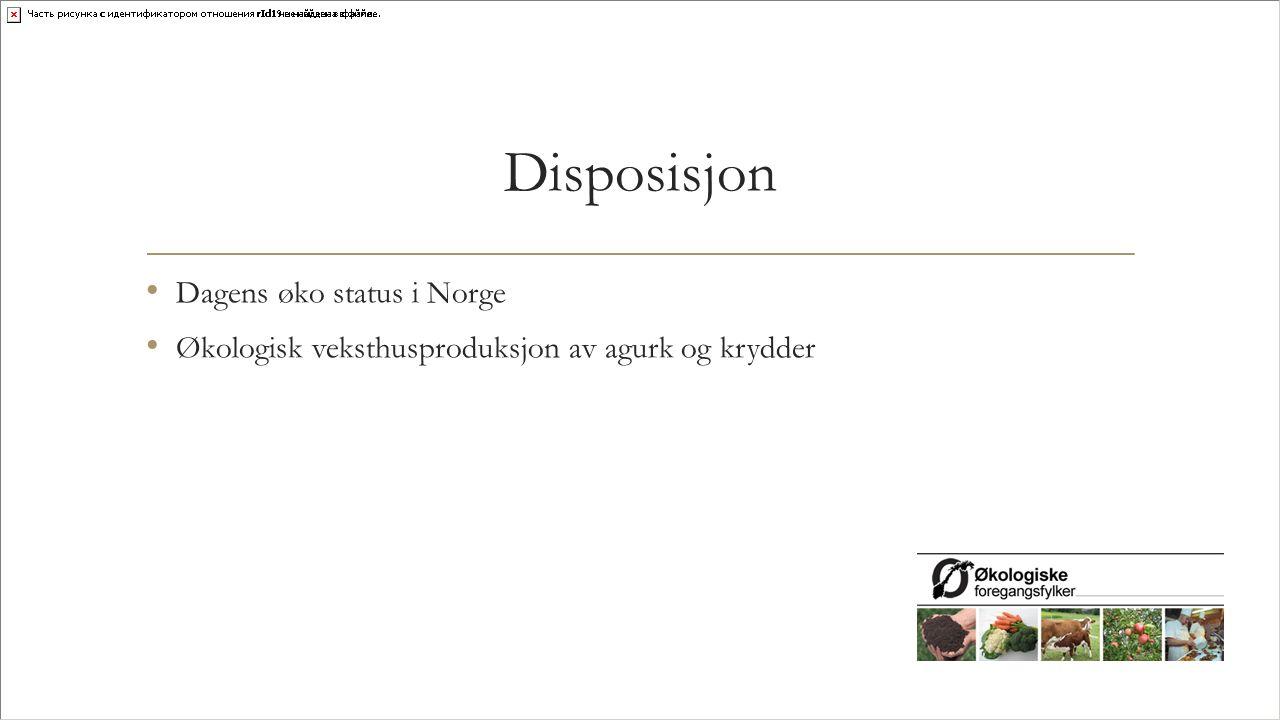 Disposisjon Dagens øko status i Norge