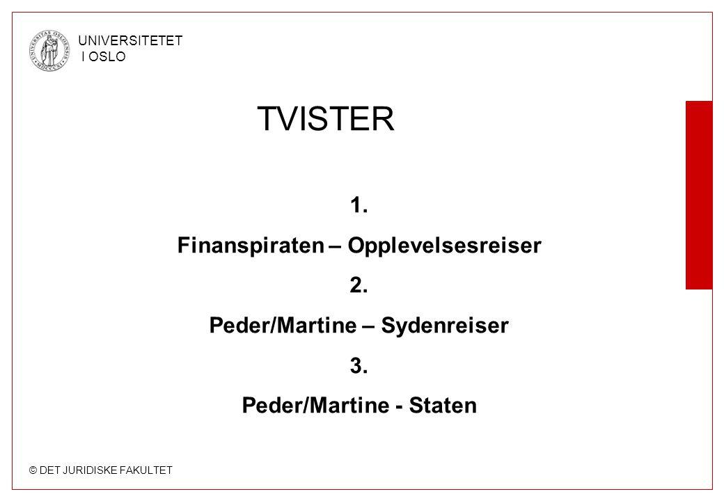 TVISTER 1. Finanspiraten – Opplevelsesreiser 2.