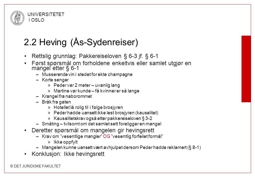 2.2 Heving (Ås-Sydenreiser)