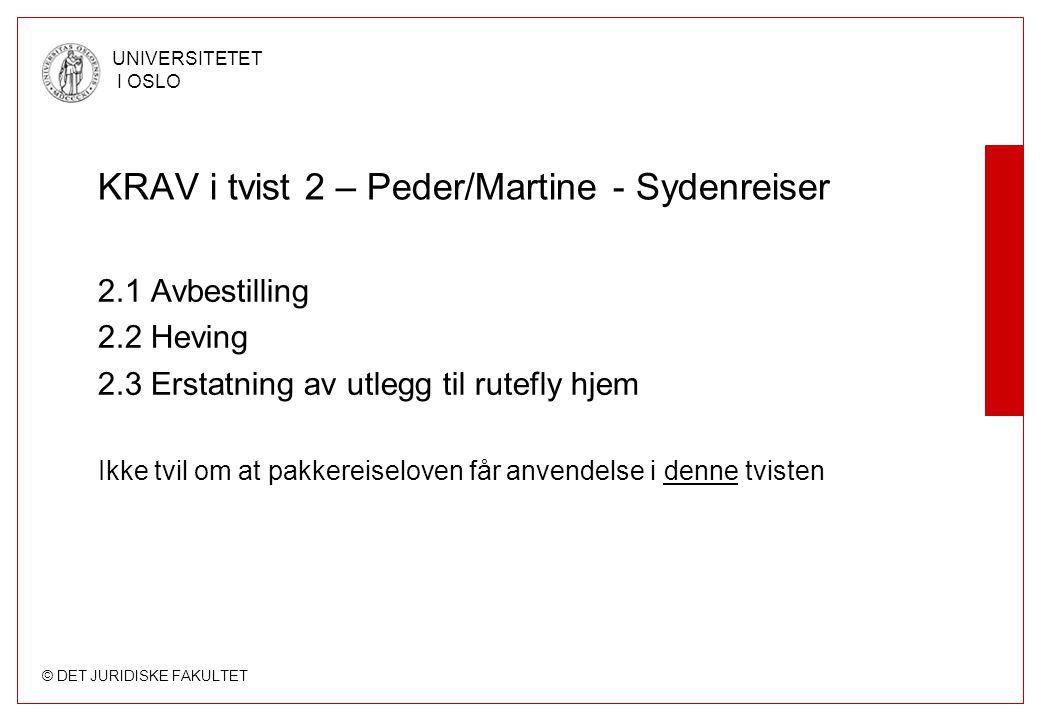 KRAV i tvist 2 – Peder/Martine - Sydenreiser