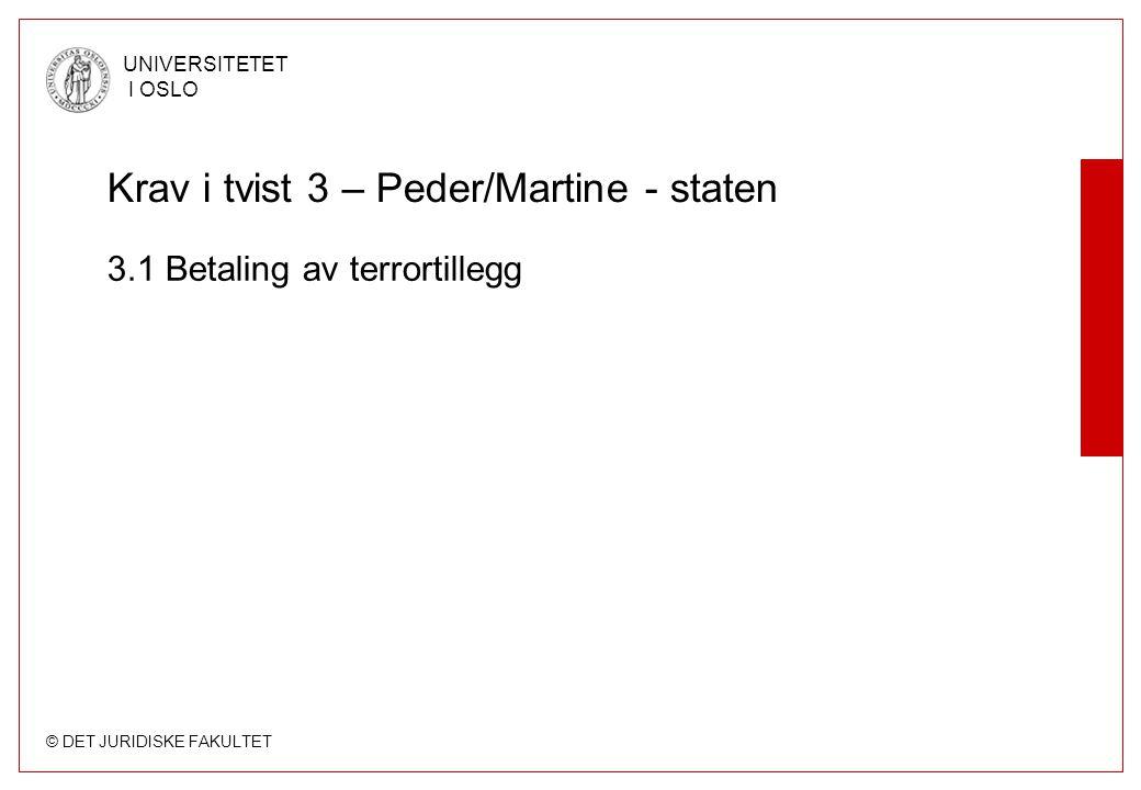 Krav i tvist 3 – Peder/Martine - staten