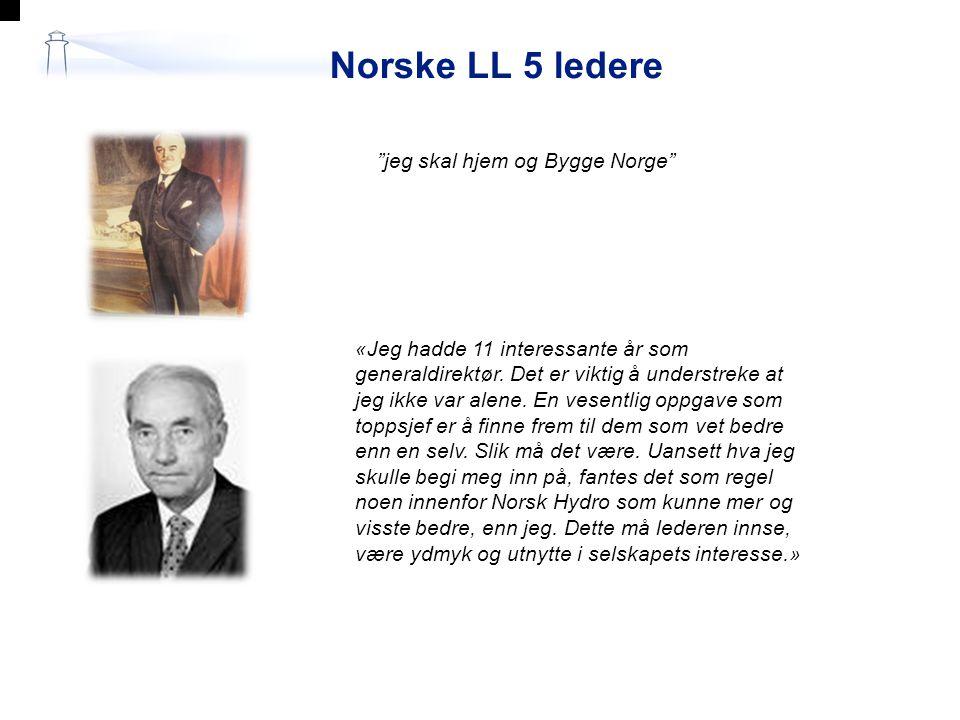 Norske LL 5 ledere jeg skal hjem og Bygge Norge