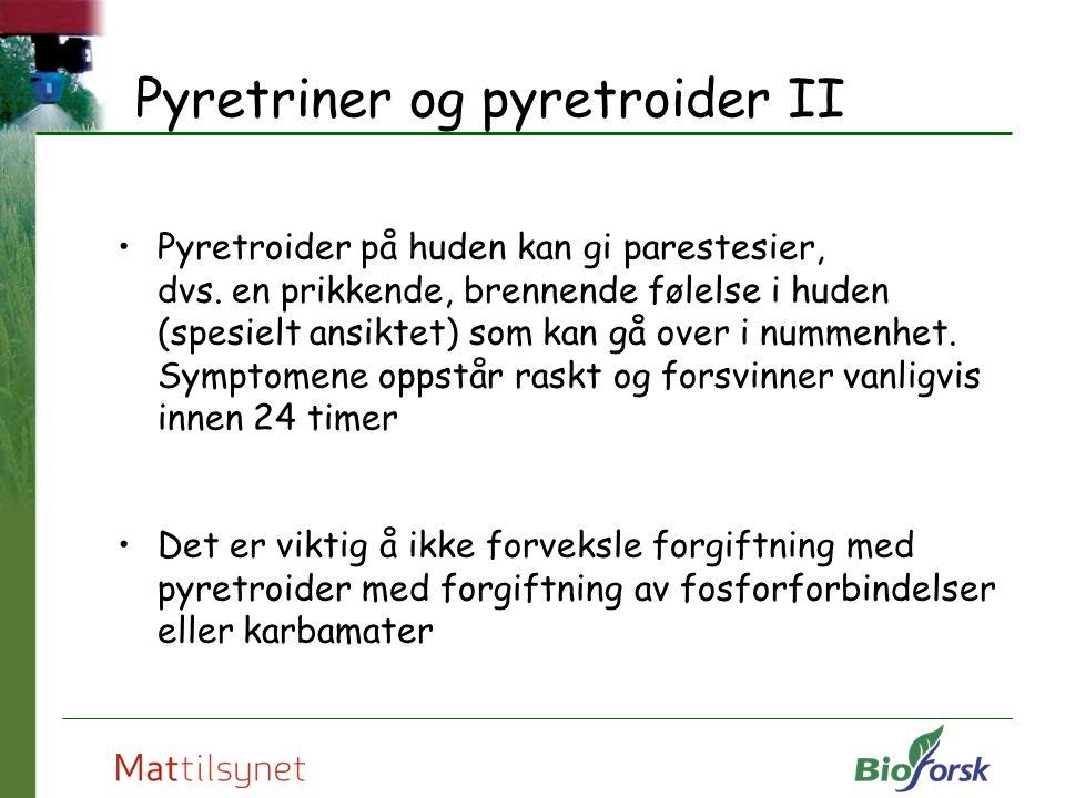 Pyretriner og pyretroider II