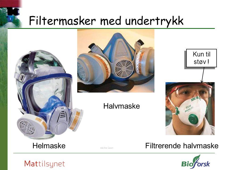 Filtermasker med undertrykk