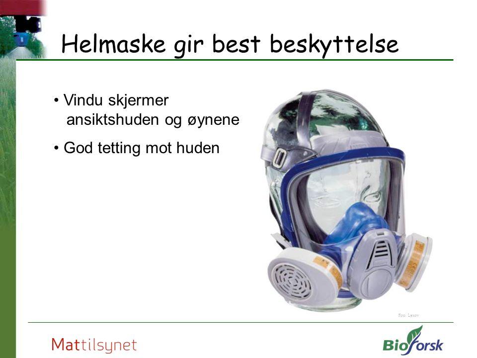 Helmaske gir best beskyttelse