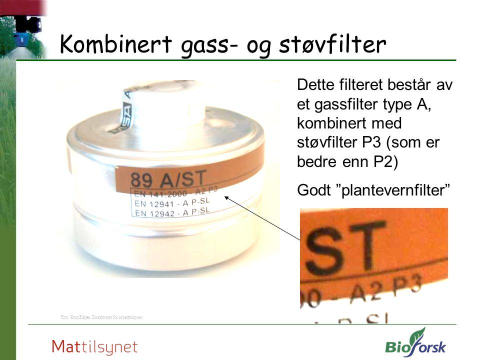 Kombinert gass- og støvfilter