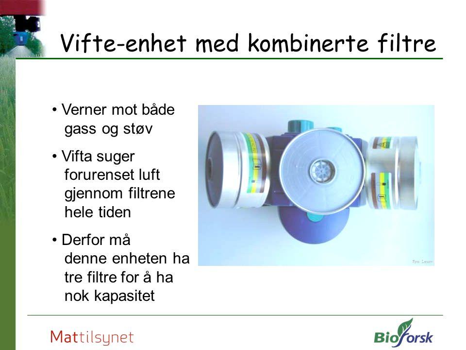 Vifte-enhet med kombinerte filtre