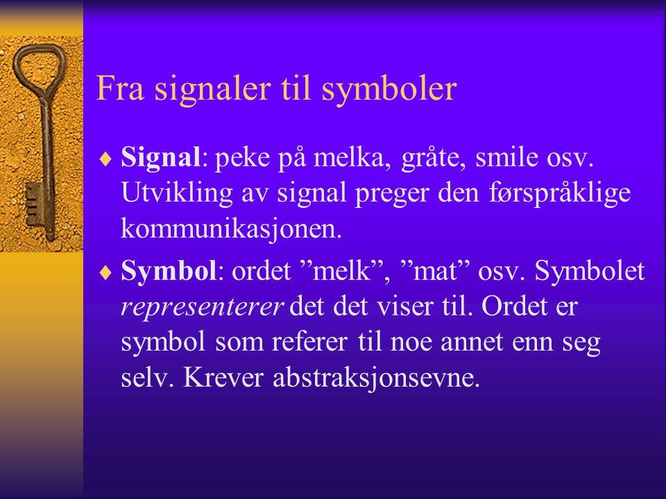 Fra signaler til symboler
