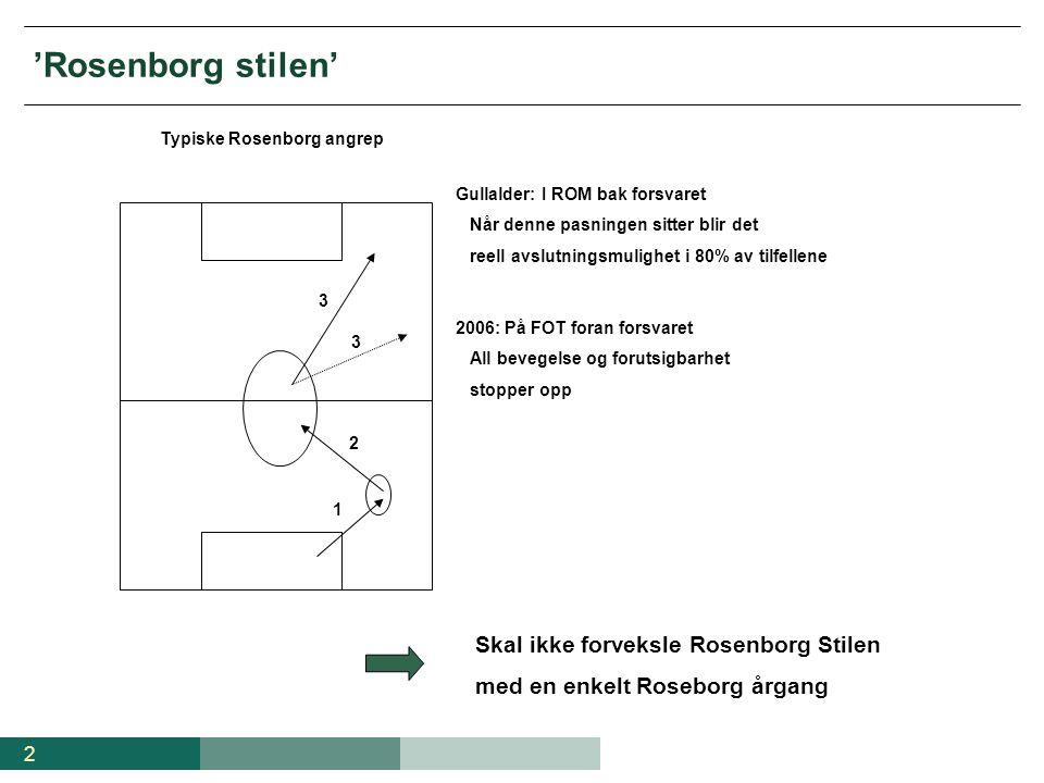 'Rosenborg stilen' Skal ikke forveksle Rosenborg Stilen