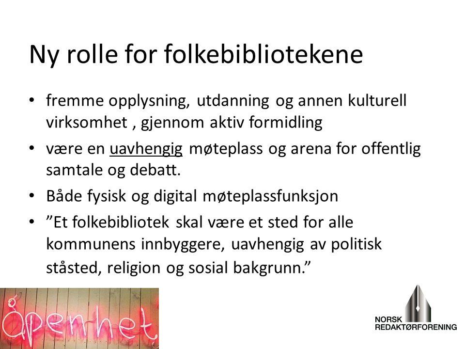 Ny rolle for folkebibliotekene