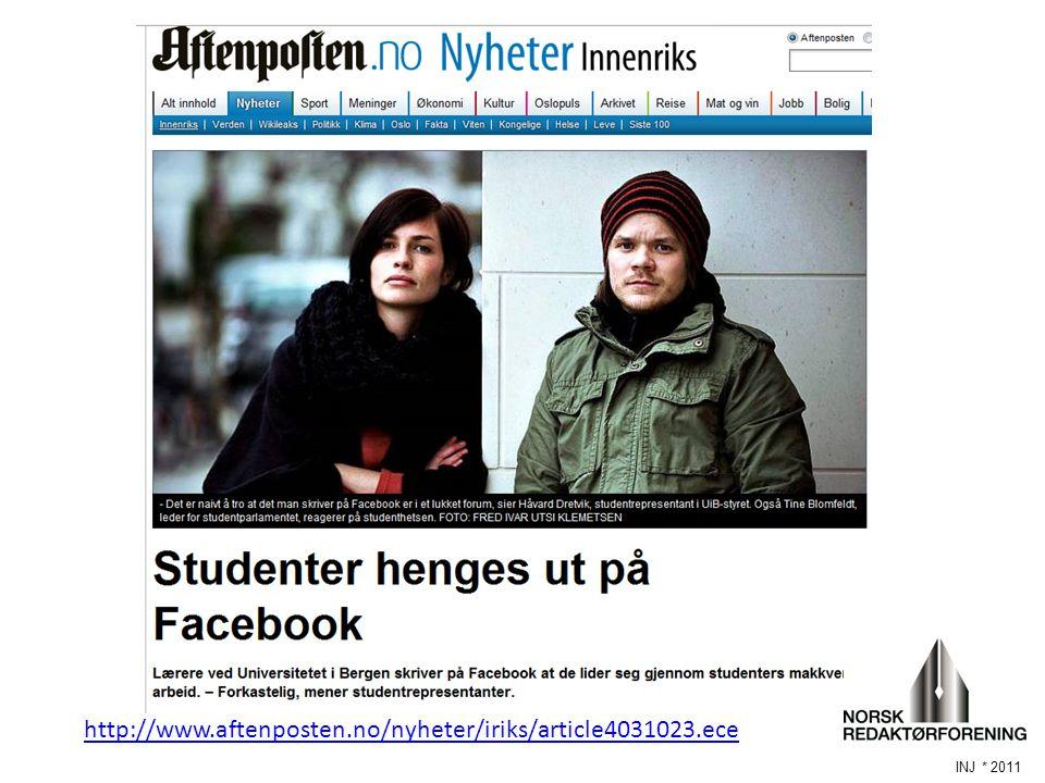 Saken både i BT og Aftenposten