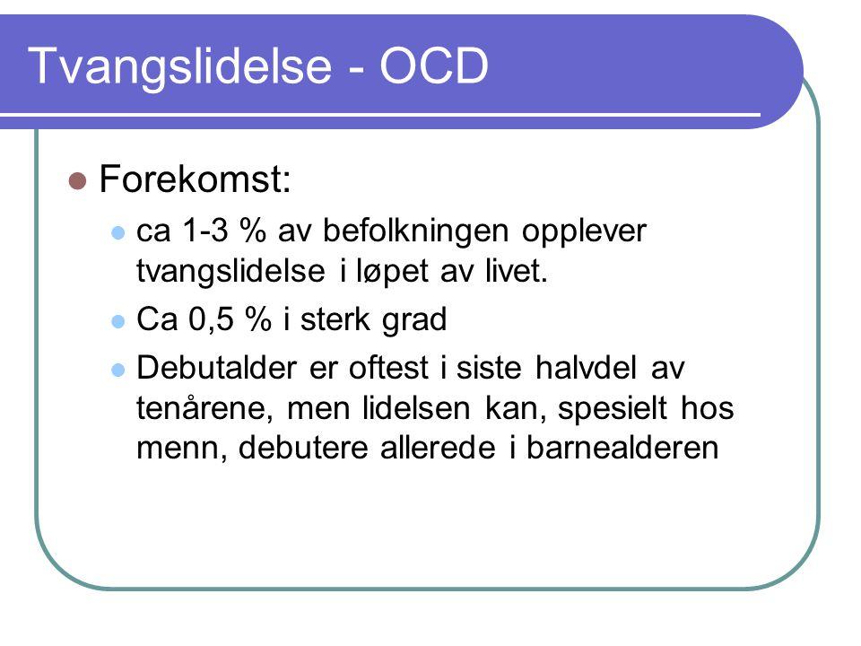 Tvangslidelse - OCD Forekomst: