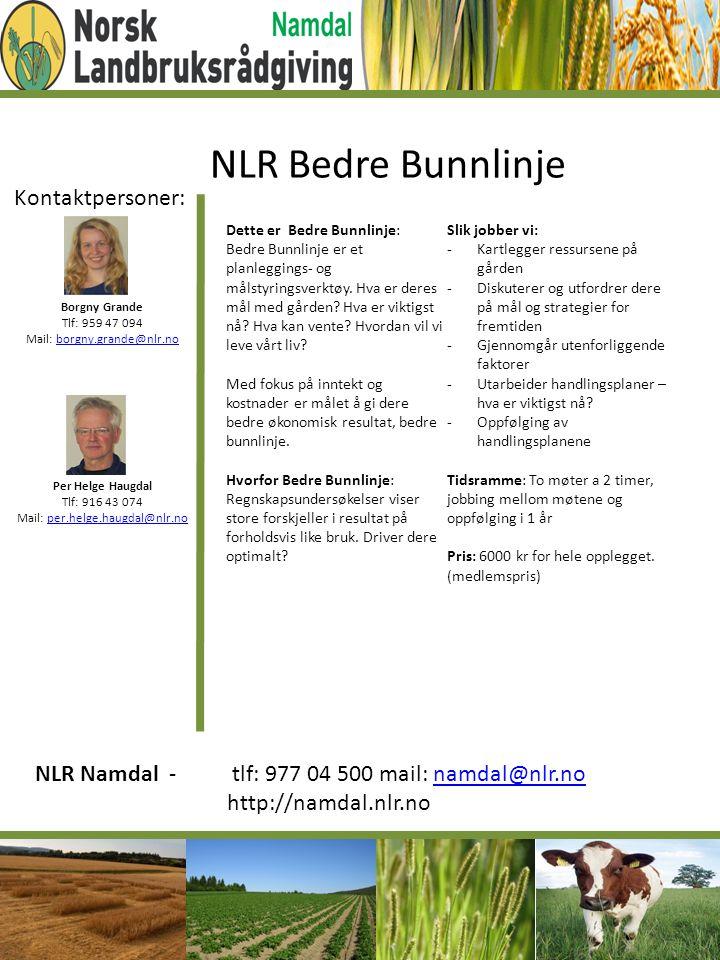 NLR Bedre Bunnlinje Kontaktpersoner: