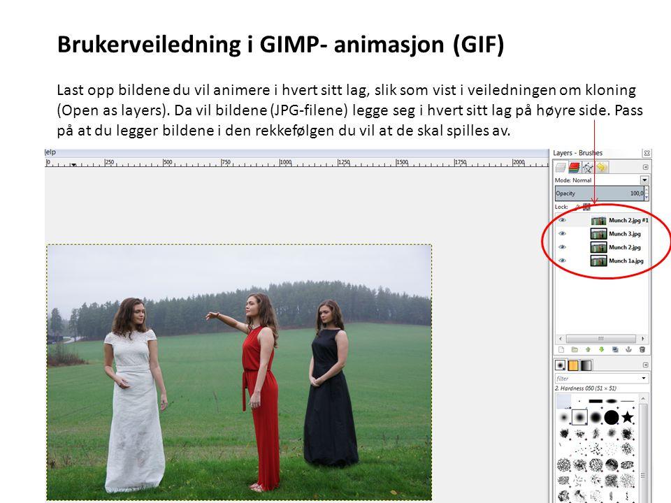 Brukerveiledning i GIMP- animasjon (GIF)