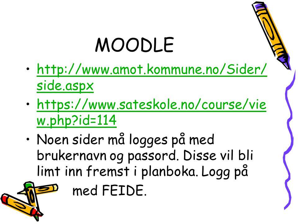 MOODLE http://www.amot.kommune.no/Sider/side.aspx