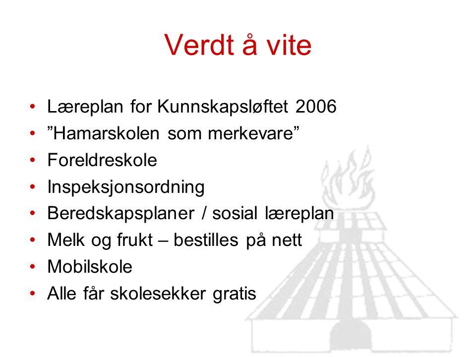 Verdt å vite Læreplan for Kunnskapsløftet 2006