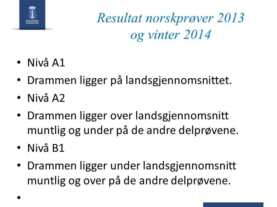 Resultat norskprøver 2013 og vinter 2014