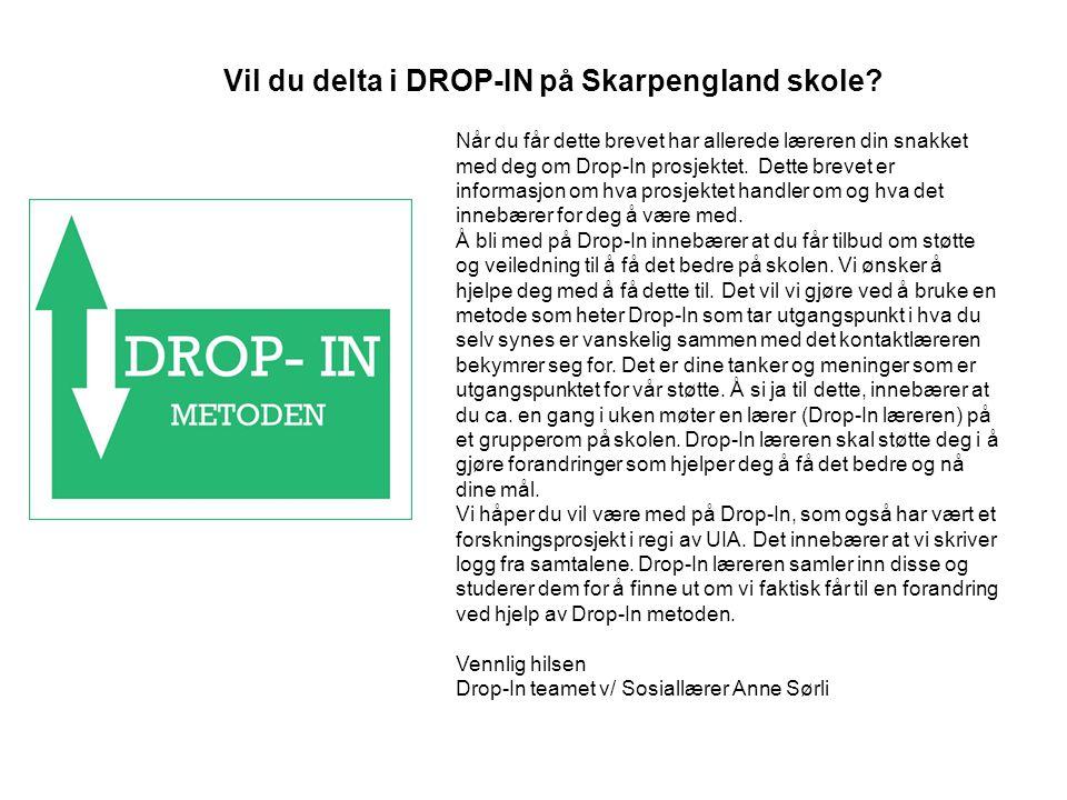 Vil du delta i DROP-IN på Skarpengland skole