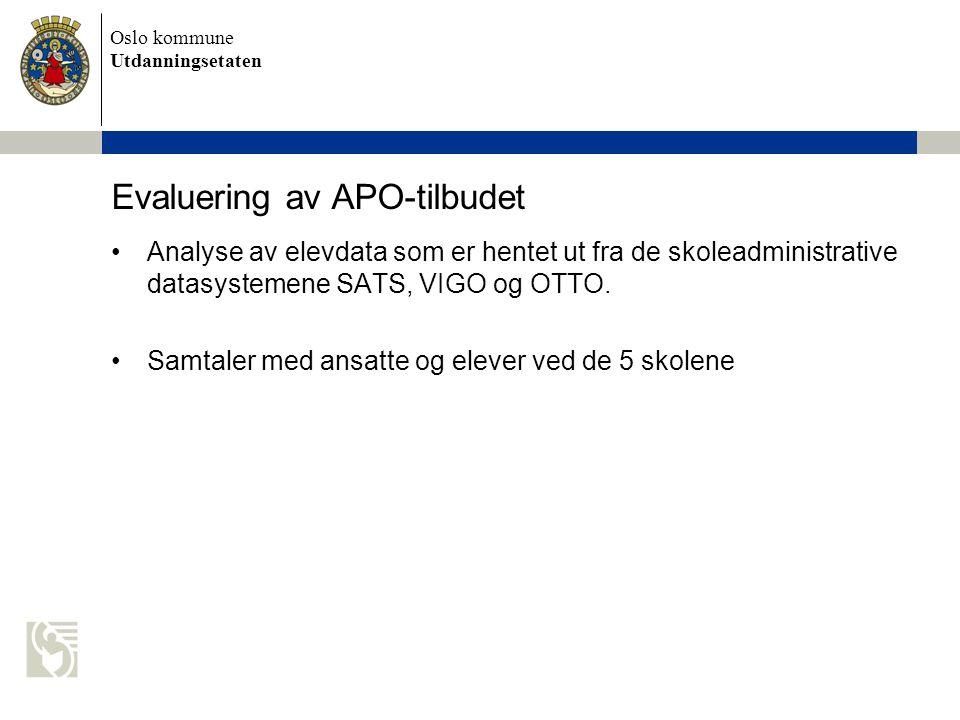 Evaluering av APO-tilbudet