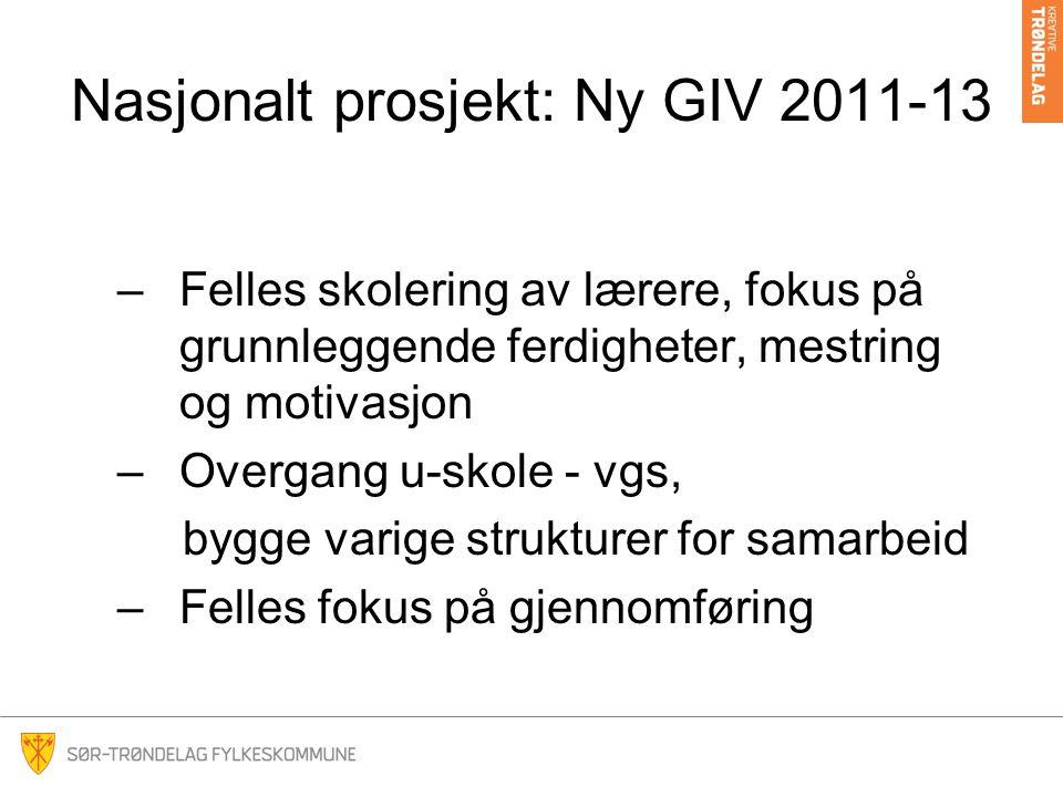 Nasjonalt prosjekt: Ny GIV 2011-13