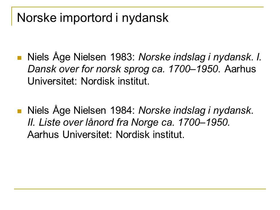 Norske importord i nydansk